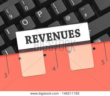 Revenues File Indicates Earning Gain 3D Rendering