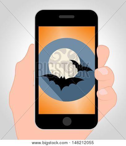 Halloween Bats Online Shows Spooky Hanging Animals