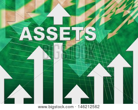 Assets Graph Represents Resources Valuables And Holdings