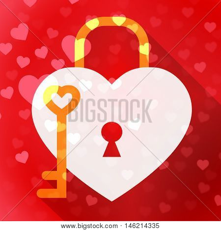 Hearts Lock Means In Love And Adoration