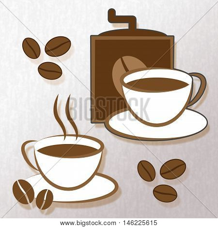 Brewed Coffee Represents Beverage Beverages And Cafeteria