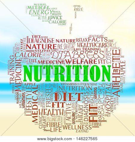 Nutrition Apple Means Food Nutriments And Nourishment
