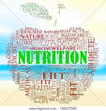 Nutrition Apple Means Food Nutriments And Nourishment