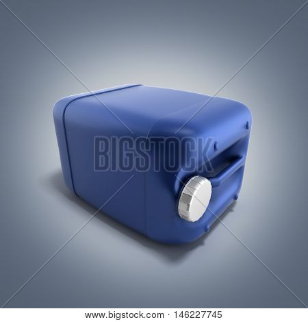 Blue Plastic Jerrycan 3D Illustration On Gradient Background