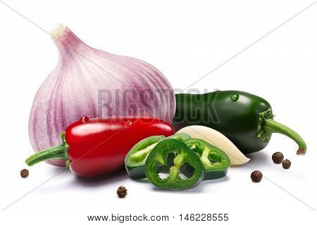 Garlic, Jalapenos, Peppercorns, Paths