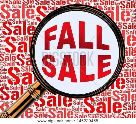 Fall Sale Represents Autumn Commerce Sales 3D Rendering