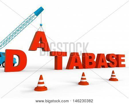 Build Database Represents Databases Storage 3D Rendering