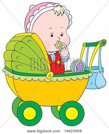 Toddler in a pram