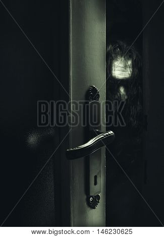 Dangerous Stranger Behind The Door