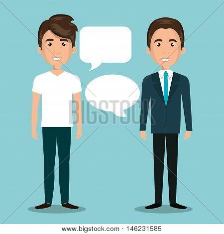 men talking dialogue isolated vector illustration eps 10