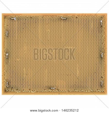 Vector Vintage Frame with Sackcloth isolated on white background