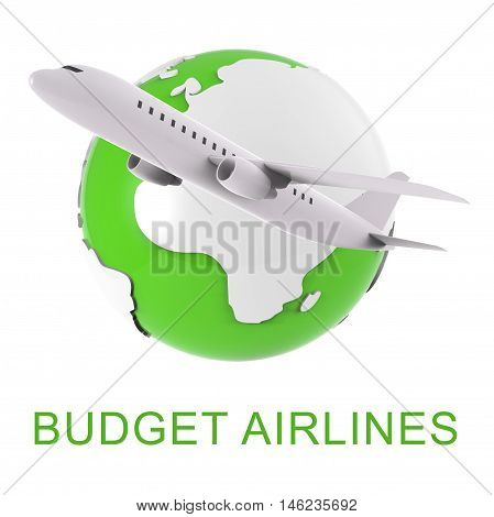 Budget Airlines Shows Special Offer Flights 3D Rendering