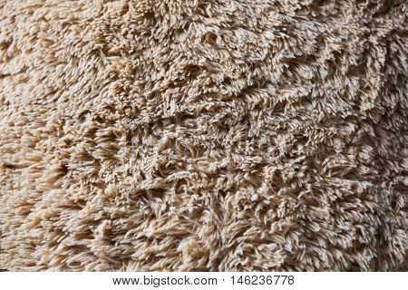 close-up brown wool fluffy fur texture background