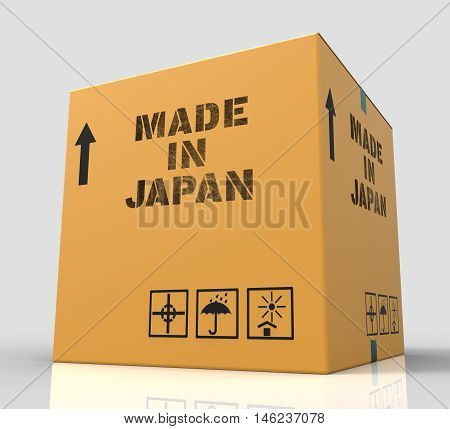 Made In Japan Indicates Japanese Import Trade 3D Rendering