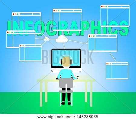 Computer Infographics Indicates Visual Illustration And Graphic
