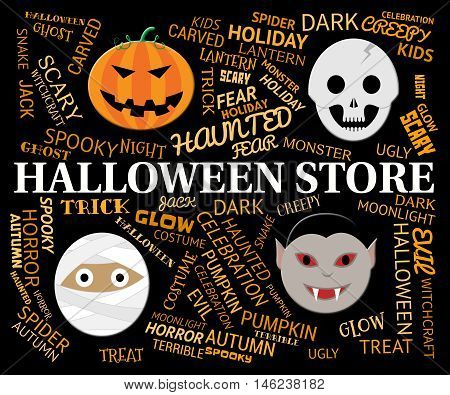 Halloween Store Means Spooky And Haunted Shop