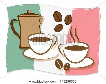 Italian Coffee Means Italy Drinks And Beverages