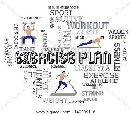 Exercise Plan Indicates Get Fit Fitness Formula