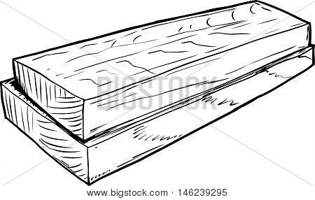 Outline Sketch Of Wooden Boards
