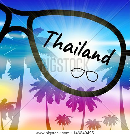 Thailand Holiday Represents Going On Vacation In Asia