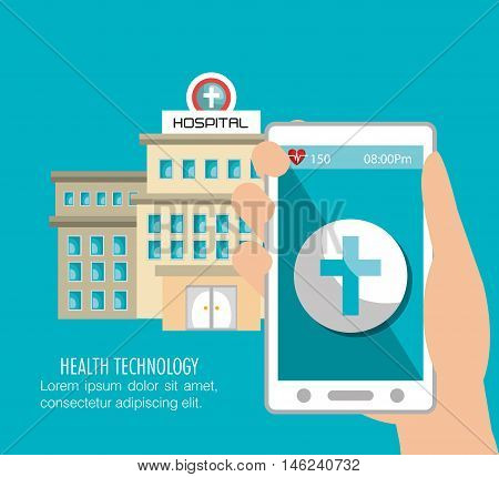 hospital building services medical isolated vector illustration eps 10