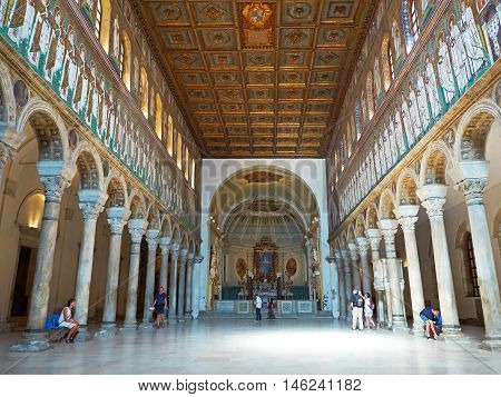 Basilica Of Sant Apollinare Nuovo In Ravenna, Emilia-romagna. Italy.
