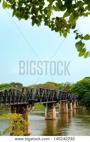 The Burma Railway also known as the Death Railway. A 415 kilometres railway between Bangkok Thailand and Rangoon Burma (now Yangon Myanmar)
