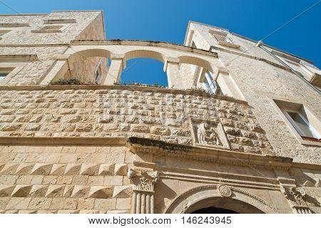 Detail of Nesta Palace. Molfetta. Puglia. Italy.