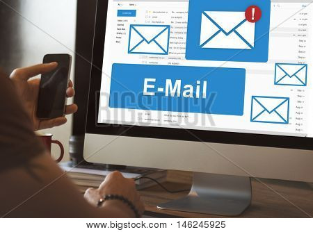 E-mail Correspondence Communication Technology Concept