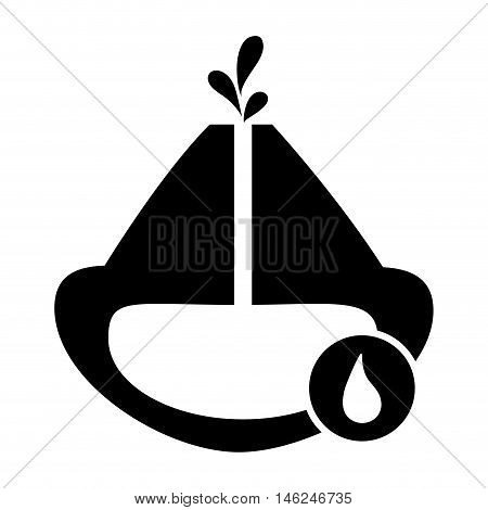 flat design oil reservoir and droplet icon vector illustration