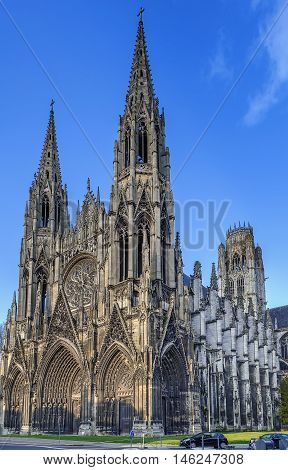 Saint-Ouen Abbey Church is a large Gothic Roman Catholic church in Rouen Normandy France