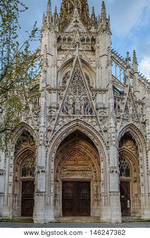 The Church of Saint-Maclou is a Roman Catholic church in Rouen France. Portal