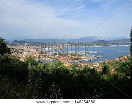 Top View Of The Gulf Of La Spezia A
