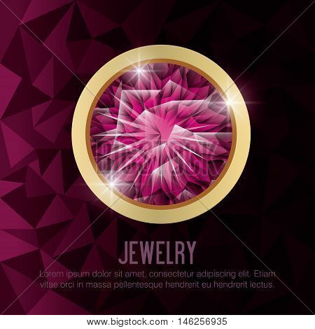gems jewelry gold isolated vector illustration eps 10