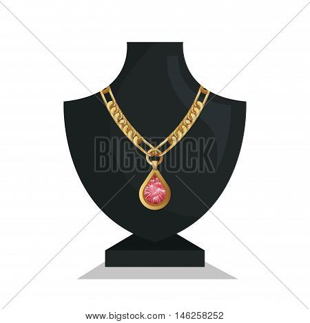 icon mannequins jewelry necklace isolated vector illustration eps 10