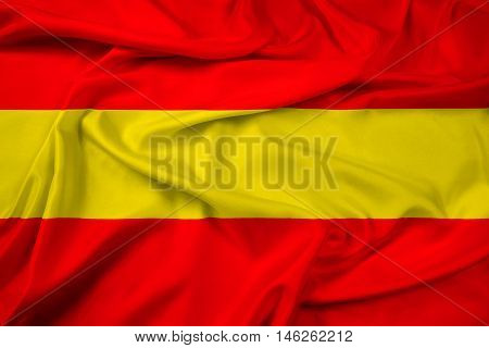 Waving Flag of Karlsruhe Germany, with beautiful satin background