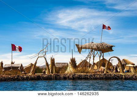 Uros - Floating Islands, Titicaca lake in Peru