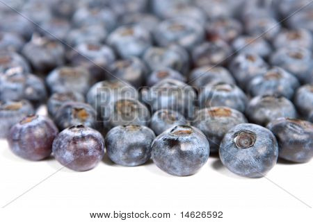 Blueberries spill.