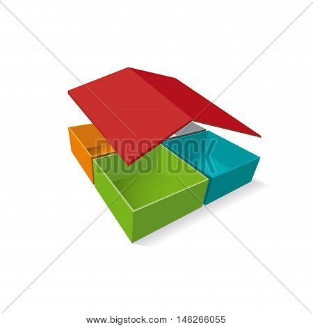 Vector sign house assistance on white background