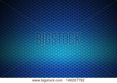 blue chrome metallic mesh. metal background and texture. 3d illustration.