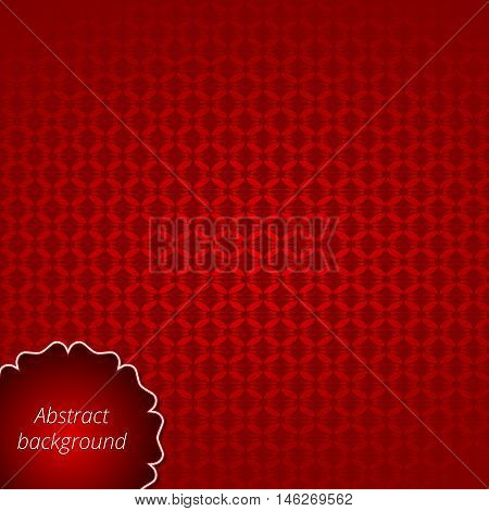 Elegant backdrop with a futuristic design. Scarlet hue. Applicable for banner brochure card business invitation poster presentation wrapping and postcard. Vector illustration.