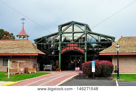 Ronks Pennsylvania - October 18 2015: Entrance of the National Toy Train Museum *