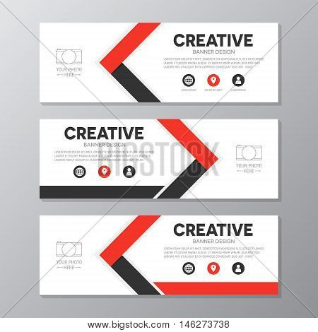 Vector geometric cover header background template for website design.