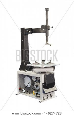 The image of a tire machine isolated under the white background