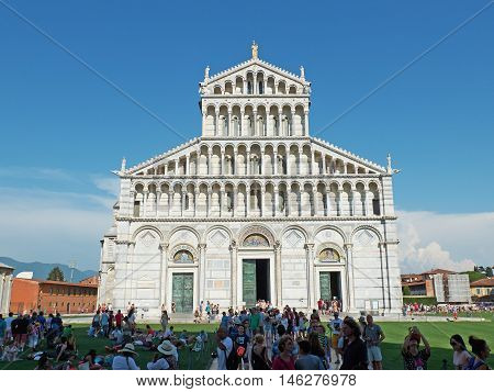 Cathedral Of Primaziale Di Santa Maria Assunta Of Pisa, Italy