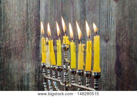 Hanukkah With Menorah Traditional