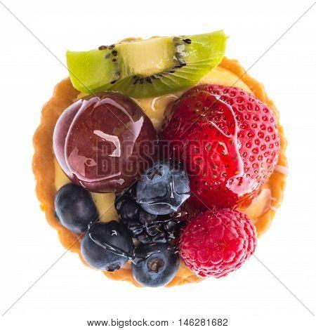 mixed fruits danish isolated on white background