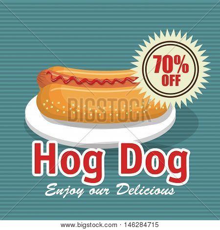 fast food hog dog design isolated vector illustration eps 10