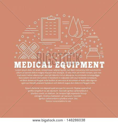 Medical Diagnostic, Checkup Graphic Design Concept