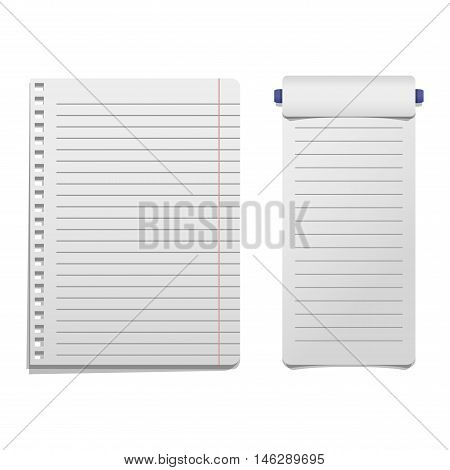 Sticker and note paper sheet sticky isolated on white background vector illustration. Message office paper note. Sticker note sheet sticky business paper blank note paper. Adhesive notice